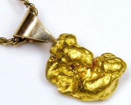 GOLD NUGGET PENDANT   1.93 GRAMS LGN 827