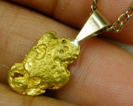 GOLD NUGGET PENDANT 1.58  GRAMS LGN 828