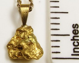 GOLD NUGGET PENDANT 2.02  GRAMS LGN 847