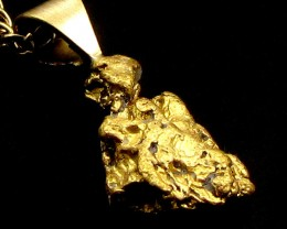 GOLD NUGGET PENDANT  2.50 GRAMS LGN 866