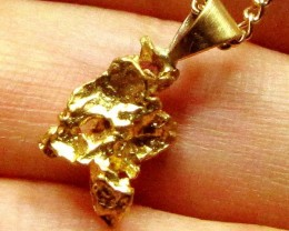 GOLD NUGGET PENDANT 2.17 GRAMS LGN 875