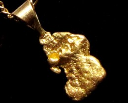 GOLD NUGGET PENDANT 1.71  GRAMS LGN 882