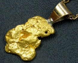 GOLD NUGGET PENDANT  1.95  GRAMS LGN 824