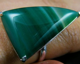 LARGE BRAZIL AGATE STONE RING ADJUSTABLE SIZE AAT329