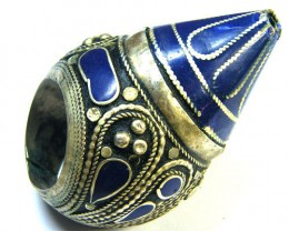 SMALL ANCIENT PERSIAN WRESTLERS AGATE RING 354 CTS GWF 5-4