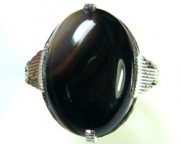 NATURAL AGATE RING SIZE 7 TR 333