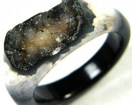 NATURAL   DRUSY AGATE RING 11 SIZE 23.60 CTS [SJ375]
