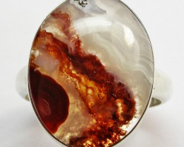 SIZE 10.5 FIRE AGATE RING [SJ2496]SH6