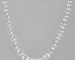 17 INCH  925 STERLING SILVER NECK CHAIN MADE IN ITALY