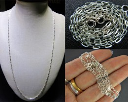 3 PACK NECKLACE SILVER CHAIN 925 CHAIN 56CM CMT 27