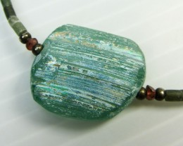 ANCIENT ROMAN GLASS NECKLACE   MJA 214