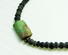 ANCIENT ROMAN GLASS NECKLACE   MJA 225