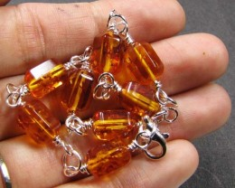BALTIC BEAD  AMBER SILVER   BRACLET  32 TCW    MYG 703