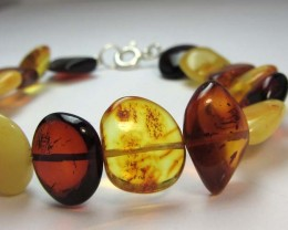 34 NATURAL  BALTIC AMBER BRACELET  MGMG 209