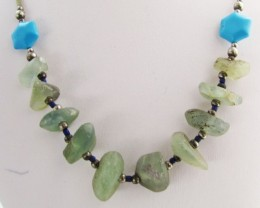 140 Cts  Roman Glass necklaces MJA1157