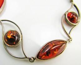 48 ctsAmber silver Bracelet 18 cm length      MJA 991