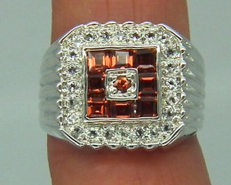GARNET  SILVER RING  33.15 CTS  SIZE- 7.5   RJ-80