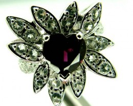 GARNET SILVER RING   31 CTS  SIZE- 5.75   RJ-635