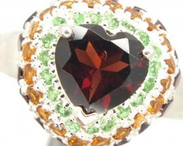 GARNET  SILVER RING 34.45  CTS  10.25 SIZE-    RJ-321