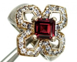GARNET  SILVER RING  35.80 CTS  SIZE- 5.50   RJ-380
