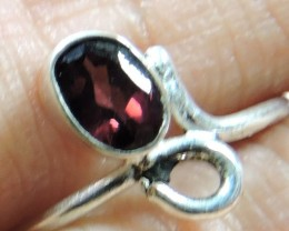 Cute Natural Garnet Ring Size  8 JGG 104