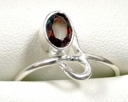 Cute Natural Garnet Ring Size 8  JGG 107