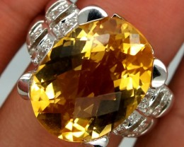 CITRINE  SILVER RING 39.80  CTS  SIZE-7.25    RJ-276