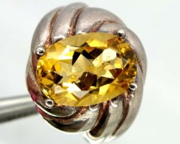 44.80 CTS CITRINE  SILVER RING  SIZE-8.25    RJ-347
