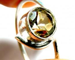 Cute Natural Citrine   Ring Size 9  JGG 127