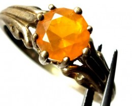 CITRINE SILVER RING 11.75  CTS  TBJ-720