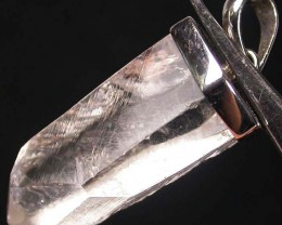 CRYSTAL PENDANT --TUBE -SILVER 42.95 CTS [SJ737]