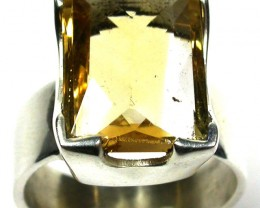 FINE CITRINE RING  38.00 CTS RING SIZE: 6 1/2 GTJA198