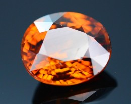 GiL Certified 4.22 ct Orange Zircon Cambodia PRJ.2