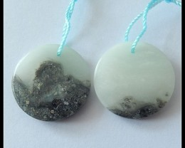 27.45CT Natural Amazonite Earring Beads