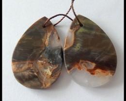 42Ct Natural Mushroom Jasper Earring Beads