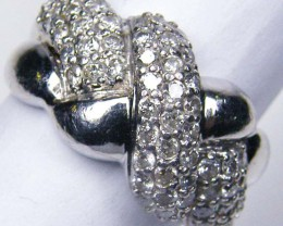CERTIFIED 59 DIMAONDS SET IN PLATINUM RING SIZE 6 R1794
