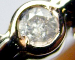 AUSTRALIAN DIAMOND  0.06 IN WHITE 18K GOLD RING SIZE7.5 JAO5