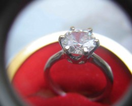 NATURAL-18KWHITE-GOLD-DIAMOND-RING-1CTWSIZE,CERTIFEDRING
