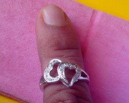 NATURAL DIAMOND  RING - SPECIAL VALENTINE GIFT  FOR SOMEONE