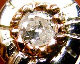 AUSTRALIAN DIAMOND 0.10 IN WHITE 18K GOLD RING SIZE 6 JAO2
