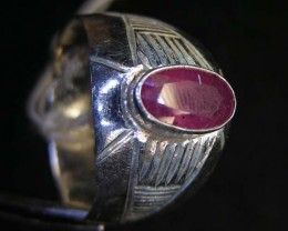 NATURAL  RUBY IN TIBETAN  RING  SIZE  7 11 101