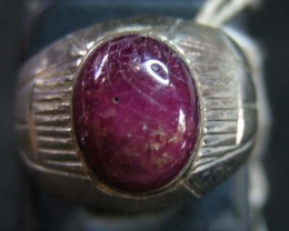 NATURAL  RUBY IN TIBETAN  RING  SIZE9    11 097