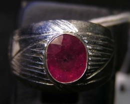 NATURAL  RUBY IN TIBETAN  RING  SIZE  8 11 100