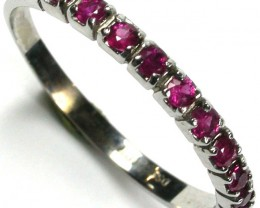 RUBY 10K  WHITE GOLD   RING    SIZE 6 1/2     GTJA220