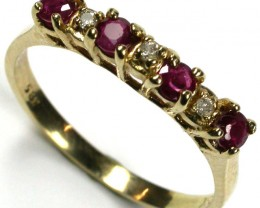 RUBY 14K  YELLOW GOLD   RING    SIZE  6 1/2 ~ 7  GTJA219