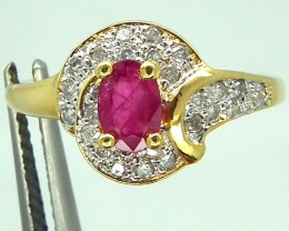 RUBY  SILVER RING 16 CTS  SIZE- 9.5 RJ-73