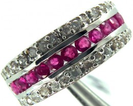 RUBY  SILVER RING 26  CTS  SIZE-8  RJ-208