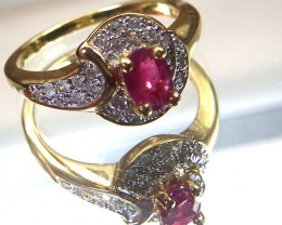 RUBY  SILVER RING 15.5  CTS  SIZE- 6.5   RJ-74