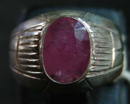 NATURAL  RUBY IN TIBETAN  RING  SIZE 9  11 099