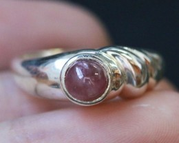 Natural  Red Ruby in Silver Ring Size 7 BU1508